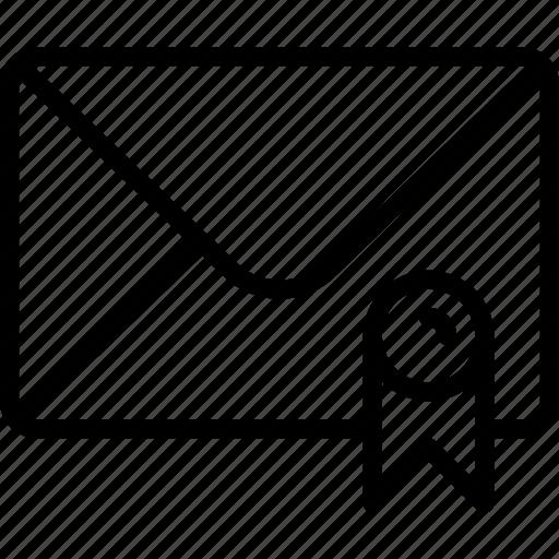 envelope, letter, mail, message, recommandation icon