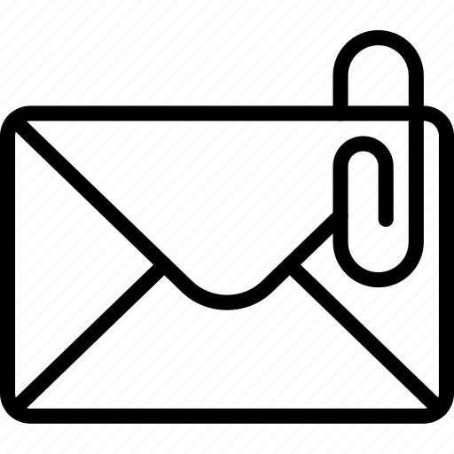 attache, envelope, letter, mail, message icon
