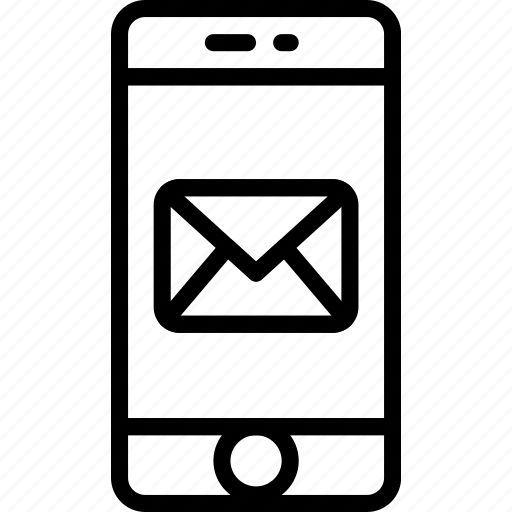 envelope, letter, mail, message, phone icon
