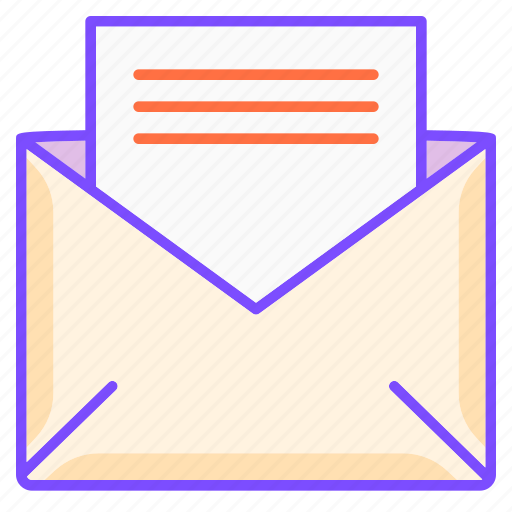 document, letter, mail, post, written communication icon