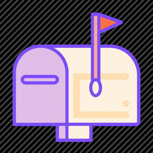 box, inbox, mail, mail box, message, post, post box icon