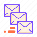 communication, email, envelopes, post, priority mail, special delivery, urgent icon