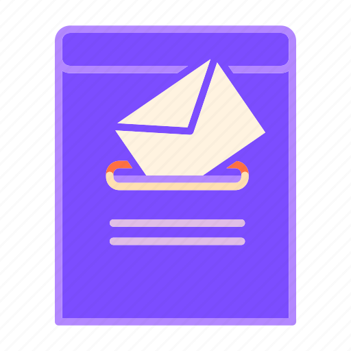communication, envelope, mail, post, postbox, recepient, sender icon