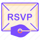 communication, envelope, ink pen, reply, rsvp, written communication icon