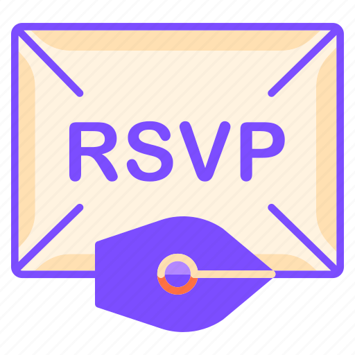 communication, envelope, ink pen, reply, rsvp, written communication icon