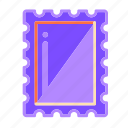 communication, envelope, letter, mail, stamp, written communication icon
