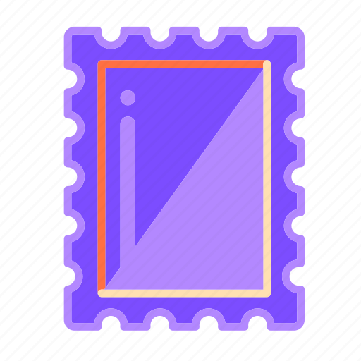 communication, envelope, letter, mail, stamp, written communication icon