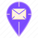 geotag, index, location, locator, mail tracking, package tracking, tracking icon