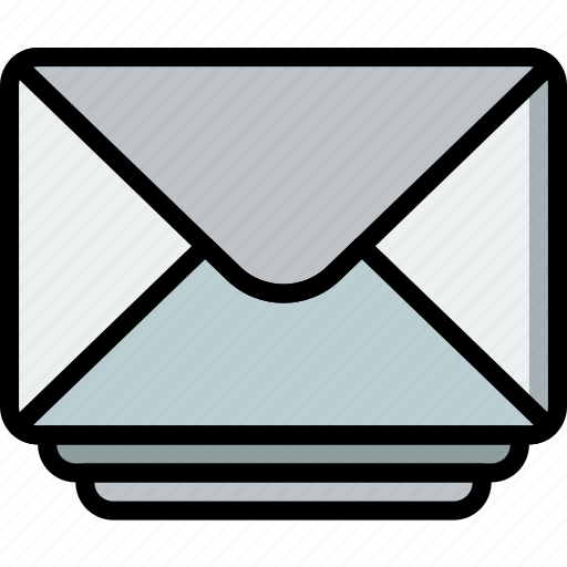 envelope, envelopes, letter, mail, message, stacked icon