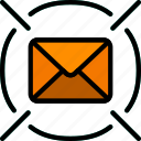 envelope, find, letter, mail, message icon