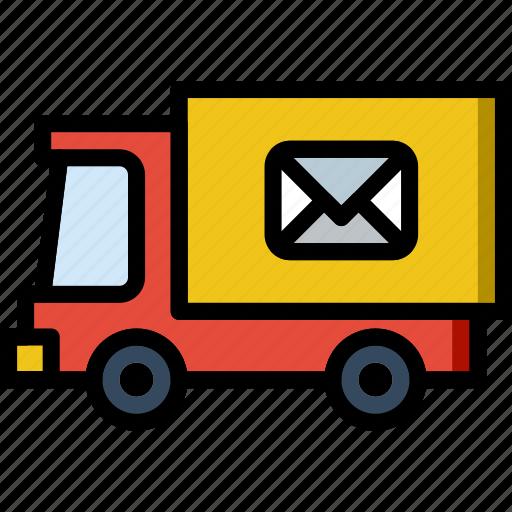 car, envelope, letter, mail, message icon