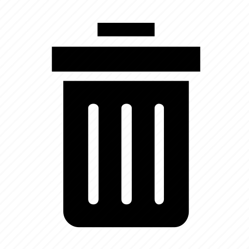 can, garbage, trash icon