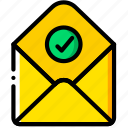 envelope, letter, mail, message, success icon