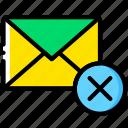 delete, envelope, letter, mail, message icon