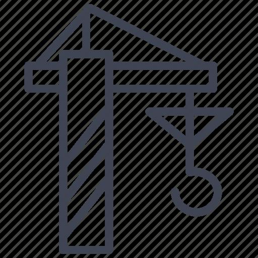 building, construction, crane, equipment, tools icon