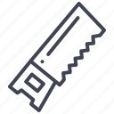construction, equipment, repair, saw, tools icon