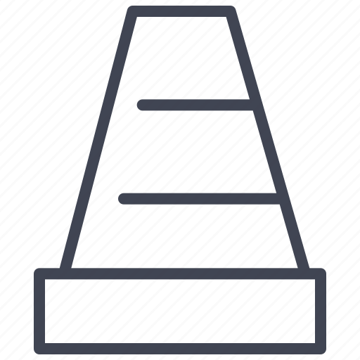 cone, construction, equipment, street, tool, traffic icon