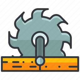 construction, cutter, electric, equipment, maintenance, saw, tool icon