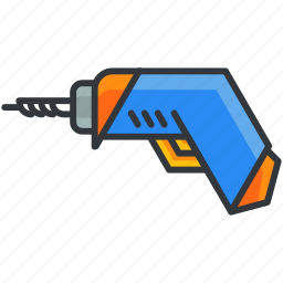 construction, electric, equipment, maintenance, screwdriver, tool icon