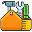 construction, equipment, full, maintenance, tool, toolbox