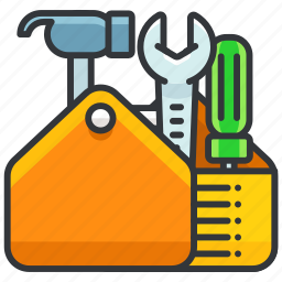 construction, equipment, full, maintenance, tool, toolbox icon