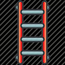 construction, equipment, ladder, maintenance, tool icon
