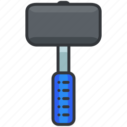 construction, equipment, hammer, large, maintenance, tool icon
