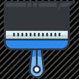 construction, equipment, large, maintenace, paint, paintbrush, tool icon