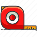 construction, equipment, maintenance, measuring, tape, tool icon