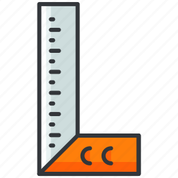 construction, maintenance, measure, ruler, tool icon