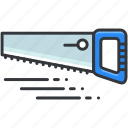 construction, equipment, maintenance, saw, tool, tools icon