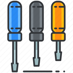 construction, equipment, maintenance, screwdrivers, tool, tools icon