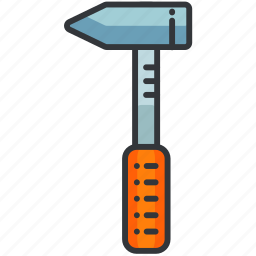 construction, equipment, hammer, maintenance, small, tool icon
