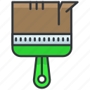 construction, equipment, maintenance, paintbrush, small, tool icon