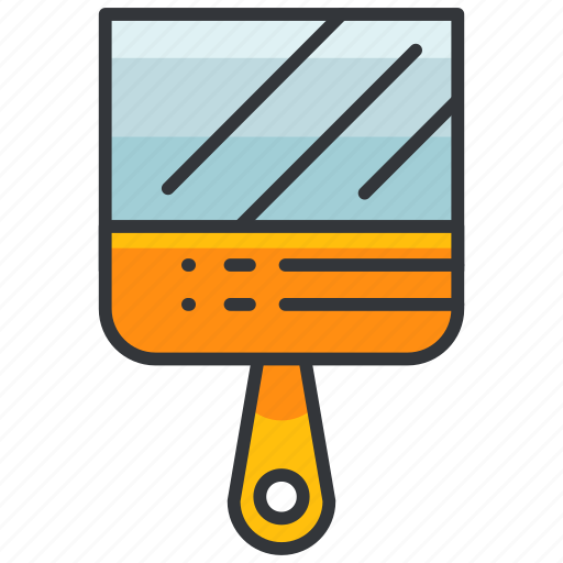 construction, equipment, maintenance, puttyknife, small, tool icon