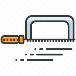 construction, equipment, maintenance, saw, small, tool icon