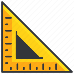 construction, maintenance, measure, ruler, tools, triangle icon