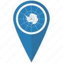 antarctic, antarctica, flag, map, pin, pointer, treaty icon