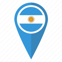 argentina, country, flag, location, map, pin, pointer icon
