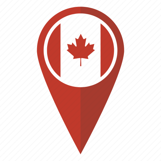 Map Pins Canada Canada, flag, map, pin icon   Download on Iconfinder