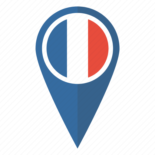 flag, france, french, location, map, pin, pointer icon