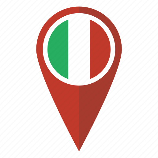 Flag italian italy location map pin pointer icon Icon search