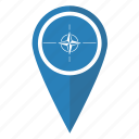flag, location, map, nato, organization, pin, pointer icon