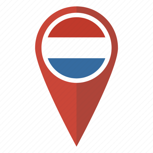 dutch, flag, location, map, netherlands, pin, pointer icon