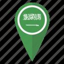 flag, map, pin, saudi arabia icon