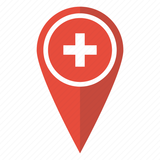 flag, location, map, pin, pointer, swiss, switzerland icon
