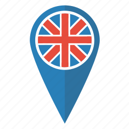 britain, british, flag, map, pin, pointer, uk icon