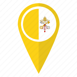 city, flag, location, map, pin, pointer, vatican icon