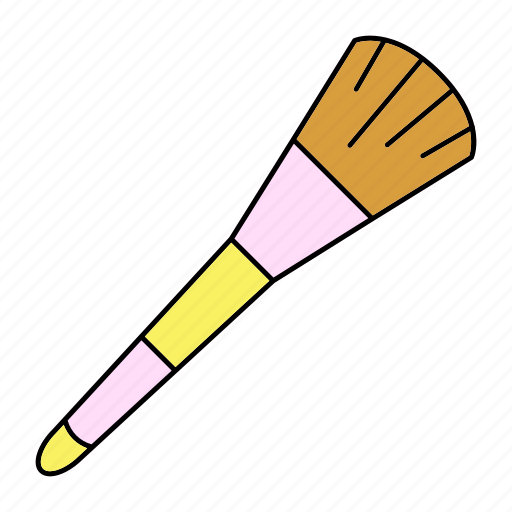 brush, cosmetic, makeover, makeup icon