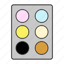 color, cosmetics, paint, palette icon